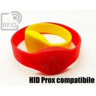 Braccialetti RFID silicone ovale HID Prox compatibile 1