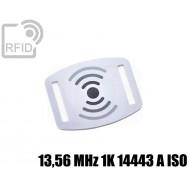 Slider RFID per braccialetti 13,56 MHz 1K 14443 A ISO