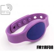 Braccialetti RFID silicone ovale clip FM11RF08