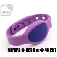Braccialetti RFID silicone ovale clip NFC MIFARE ® DESFire ®