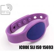 Braccialetti RFID silicone ovale clip ICODE SLI ISO 15693