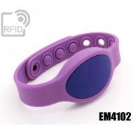 Braccialetti RFID silicone ovale clip EM4102