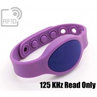 Braccialetti RFID silicone ovale clip 125 KHz Read Only