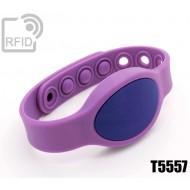 Braccialetti RFID silicone ovale clip T5557
