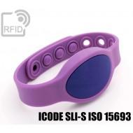 Braccialetti RFID silicone ovale clip ICODE SLI-S ISO 15693