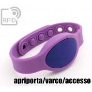 Braccialetti RFID silicone ovale clip apriporta/varco/access