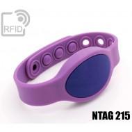 Braccialetti RFID silicone ovale clip NFC NTAG215