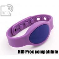 Braccialetti RFID silicone ovale clip HID Prox compatibile 1