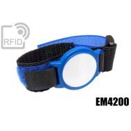 Braccialetti RFID ABS velcro EM4200