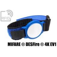 Braccialetti RFID ABS velcro NFC MIFARE ® DESFire ® 4K EV1