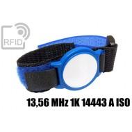 Braccialetti RFID ABS velcro 13,56 MHz 1K 14443 A ISO