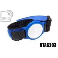 Braccialetti RFID ABS velcro NFC NTAG203