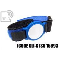 Braccialetti RFID ABS velcro ICODE SLI-S ISO 15693