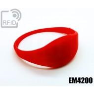 Braccialetti RFID silicone sottile EM4200