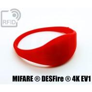 Braccialetti RFID silicone sottile NFC MIFARE ® DESFire ® 4K