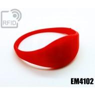 Braccialetti RFID silicone sottile EM4102