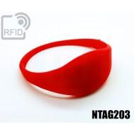 Braccialetti RFID silicone sottile NFC NTAG203