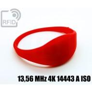 Braccialetti RFID silicone sottile 13,56 MHz 4K 14443 A ISO