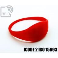 Braccialetti RFID silicone sottile ICODE 2 ISO 15693