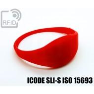 Braccialetti RFID silicone sottile ICODE SLI-S ISO 15693