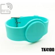 Braccialetti RFID silicone con fibbia TK4100