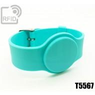 Braccialetti RFID silicone con fibbia T5567