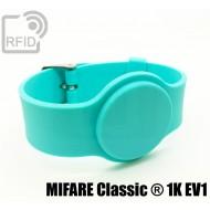 Braccialetti RFID silicone con fibbia MIFARE Classic ® 1K