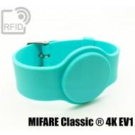Braccialetti RFID silicone con fibbia MIFARE Classic ® 4K