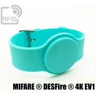 Braccialetti RFID silicone con fibbia NFC MIFARE ® DESFire ®