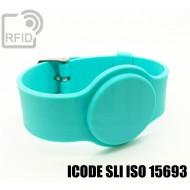 Braccialetti RFID silicone con fibbia ICODE SLI ISO 15693