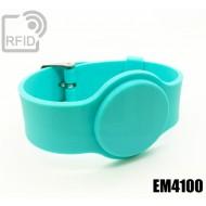 Braccialetti RFID silicone con fibbia EM4100