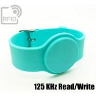 Braccialetti RFID silicone con fibbia Read/Write 125 Khz