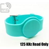 Braccialetti RFID silicone con fibbia 125 KHz Read Only