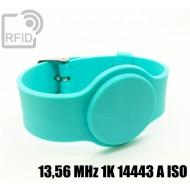 Braccialetti RFID silicone con fibbia 13,56 MHz 1K 14443 A I