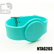 Braccialetti RFID silicone con fibbia NFC NTAG203