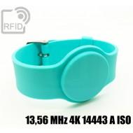 Braccialetti RFID silicone con fibbia 13,56 MHz 4K 14443 A I