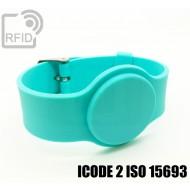 Braccialetti RFID silicone con fibbia ICODE 2 ISO 15693