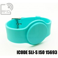 Braccialetti RFID silicone con fibbia ICODE SLI-S ISO 15693