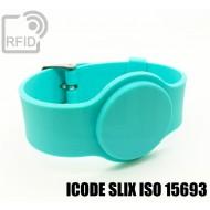 Braccialetti RFID silicone con fibbia ICODE SLIX ISO 15693