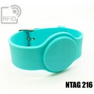 Braccialetti RFID silicone con fibbia NFC NTAG216