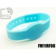 Braccialetti RFID silicone clip FM11RF08