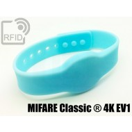 Braccialetti RFID silicone clip MIFARE Classic ® 4K