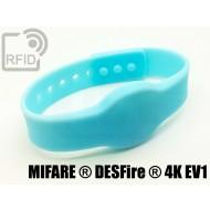 Braccialetti RFID silicone clip NFC MIFARE ® DESFire ® 4K EV