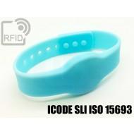 Braccialetti RFID silicone clip ICODE SLI ISO 15693