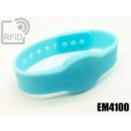 Braccialetti RFID silicone clip EM4100