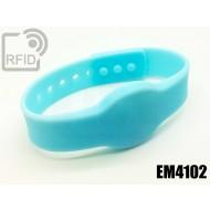 Braccialetti RFID silicone clip EM4102