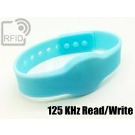 Braccialetti RFID silicone clip Read/Write 125 Khz