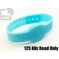 Braccialetti RFID silicone clip 125 KHz Read Only