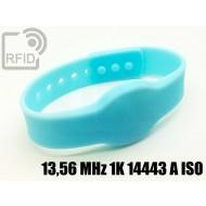 Braccialetti RFID silicone clip 13,56 MHz 1K 14443 A ISO
