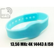 Braccialetti RFID silicone clip 13,56 MHz 4K 14443 A ISO